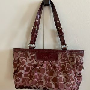 Burgundy Coach Satchel